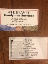 Business Vendors Hire A Vet Handyman Services in Cleveland TN